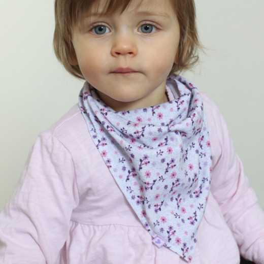 Medvilninė gėlėta kaklaskarė mergaitei Vilaurita 194