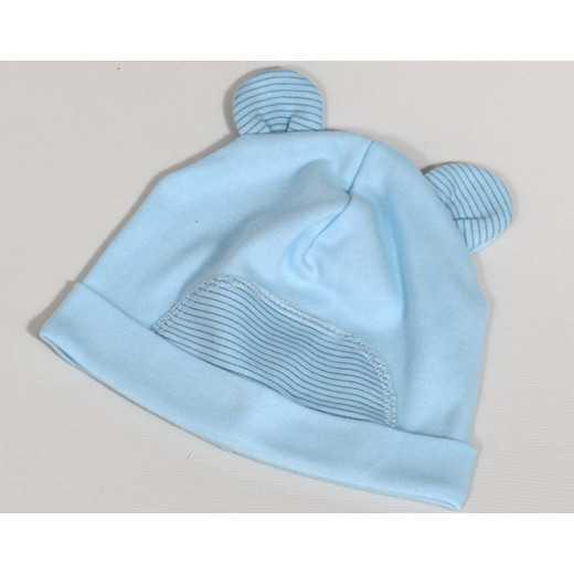 """Medvilninė kepurė kūdikiui """"ROKI"""" mėlyna VILAURITA 668"""