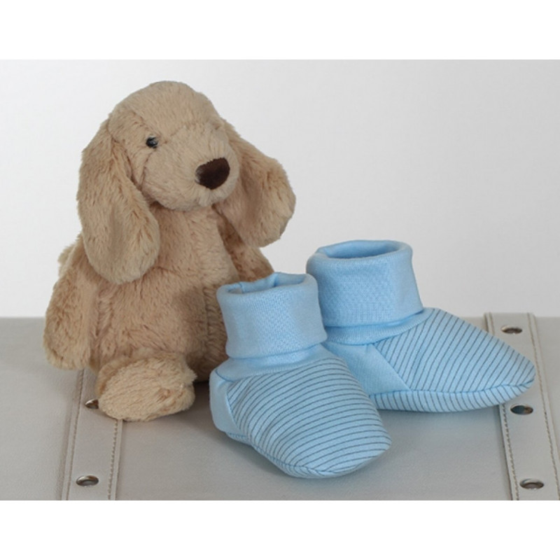 """Šilti batukai kūdikiui """"ROKI"""" mėlyni 10 cm Vilaurita 720R"""