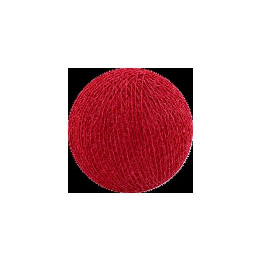 Šviečiančios girliandos medvilninis RAUDONAS burbulas COTTON FAIRY LIGHTS 0006