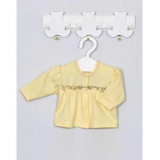 """Medvilniniai marškinėliai kūdikiui """"LUKA"""" geltoni Vilaurita 336 AKC"""
