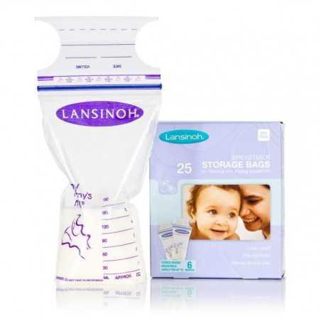 Pieno šaldymo maišeliai Lansinoh  25vnt
