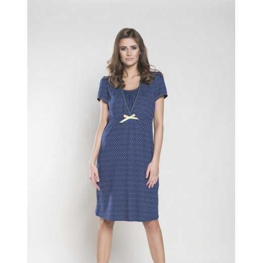 Naktiniai maitinančioms TULIA Tamsiai mėlyni Italian Fashion