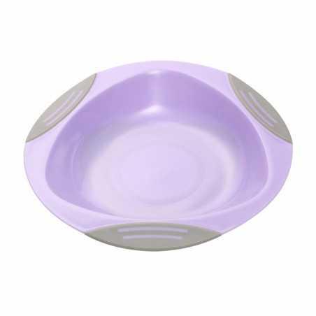 Lėkštė limpančiu dugnu 6m+ Violetinė BabyOno 1062