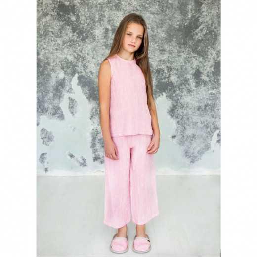Lininė pižama mergaitėms iš...