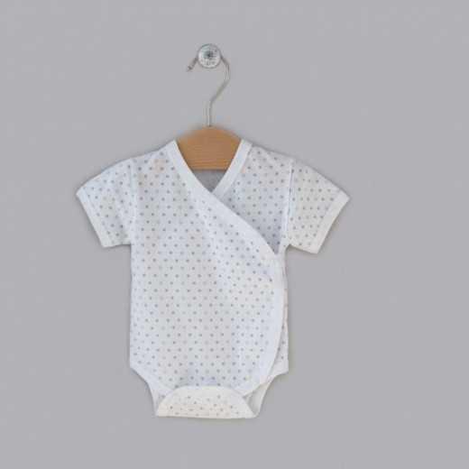 Medvilninis smėlinukas kūdikiams su aplikacija baltas VILAURITA 433