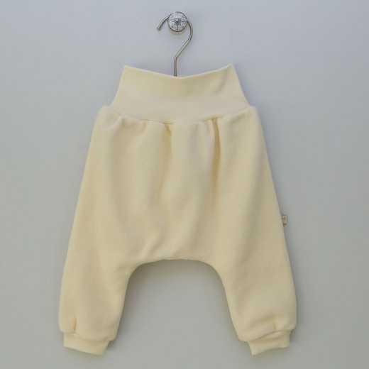 """Medvilninės šiltos kelnytės kūdikiui """"SIBĖ"""" geltonos VILAURITA 852"""