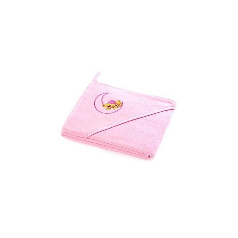 """Rankšluostis su gobtuvu kūdikiui """"Teddy Bear"""" 100x100 rožinis Sensillo"""