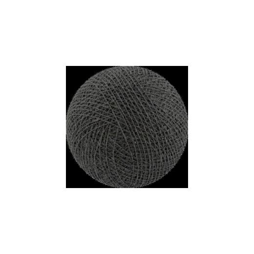 Šviečiančios girliandos medvilninis TAMSIAI PILKAS burbulas COTTON FAIRY LIGHTS 0022