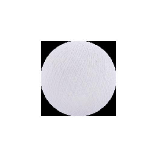 Šviečiančios girliandos medvilninis BALTAS burbulas COTTON FAIRY LIGHTS 0001