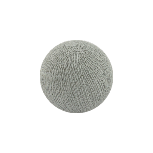 Šviečiančios girliandos medvilninis ŠVIESIAI PILKAS burbulas COTTON FAIRY LIGHTS 0004