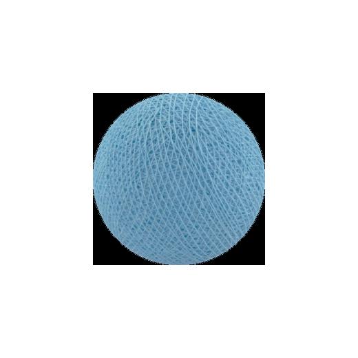 Šviečiančios girliandos medvilninis ŠVIESIAI MĖLYNAS burbulas COTTON FAIRY LIGHTS 0010