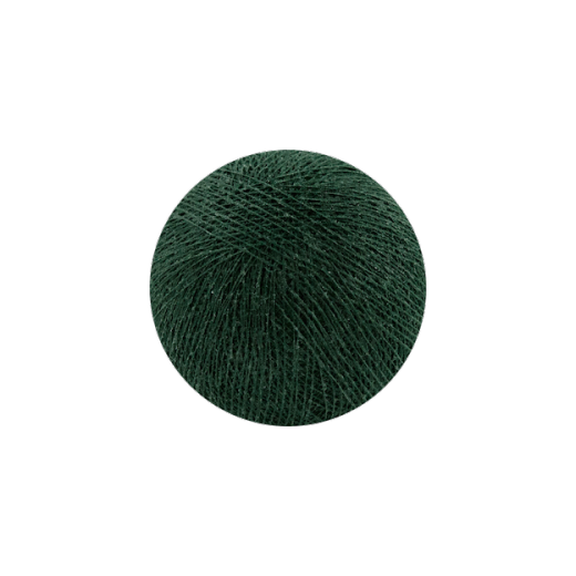 Šviečiančios girliandos medvilninis TAMSIAI ŽALIAS burbulas COTTON FAIRY LIGHTS 0011