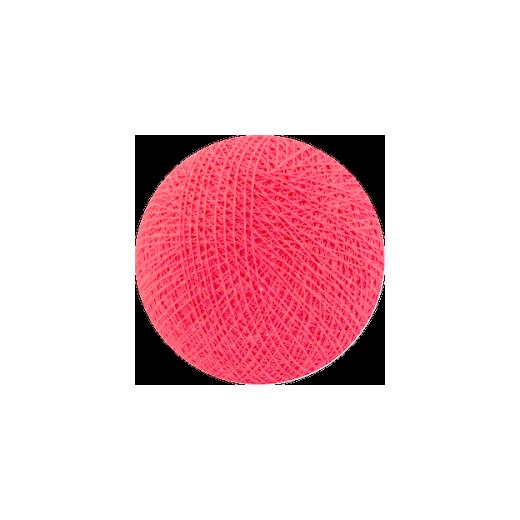 Šviečiančios girliandos medvilninis KORALŲ ROŽINIS burbulas COTTON FAIRY LIGHTS 0014