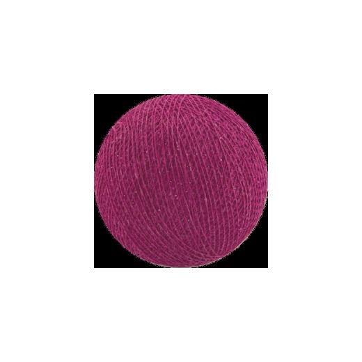 Šviečiančios girliandos medvilninis CIKLAMENINIS burbulas COTTON FAIRY LIGHTS 0015