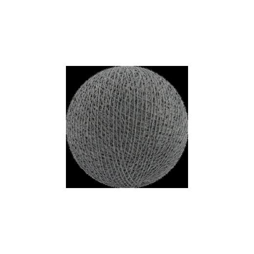 Šviečiančios girliandos medvilninis PILKAS burbulas COTTON FAIRY LIGHTS 0018