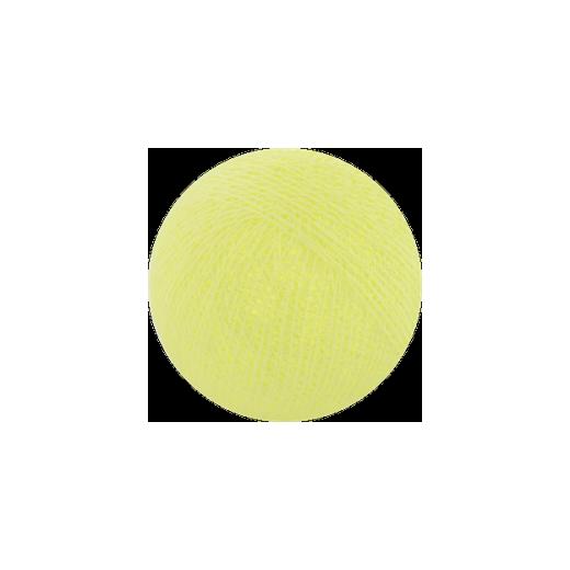 Šviečiančios girliandos medvilninis ŠVIESIAI GELTONAS burbulas COTTON FAIRY LIGHTS 0024