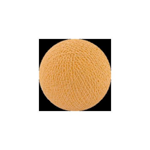 Šviečiančios girliandos medvilninis ŠVIESIAI ORANŽINIS burbulas COTTON FAIRY LIGHTS 0025
