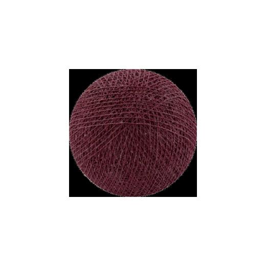Šviečiančios girliandos medvilninis TAMSIAI RAUDONAS burbulas COTTON FAIRY LIGHTS 0026