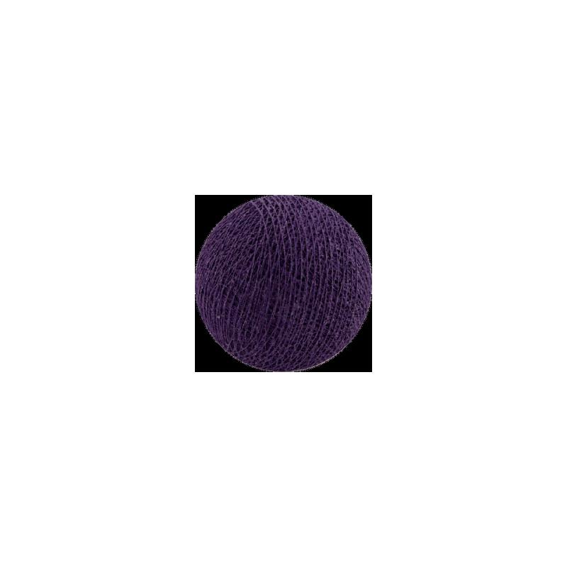 Šviečiančios girliandos medvilninis VIOLETINIS burbulas COTTON FAIRY LIGHTS 0029