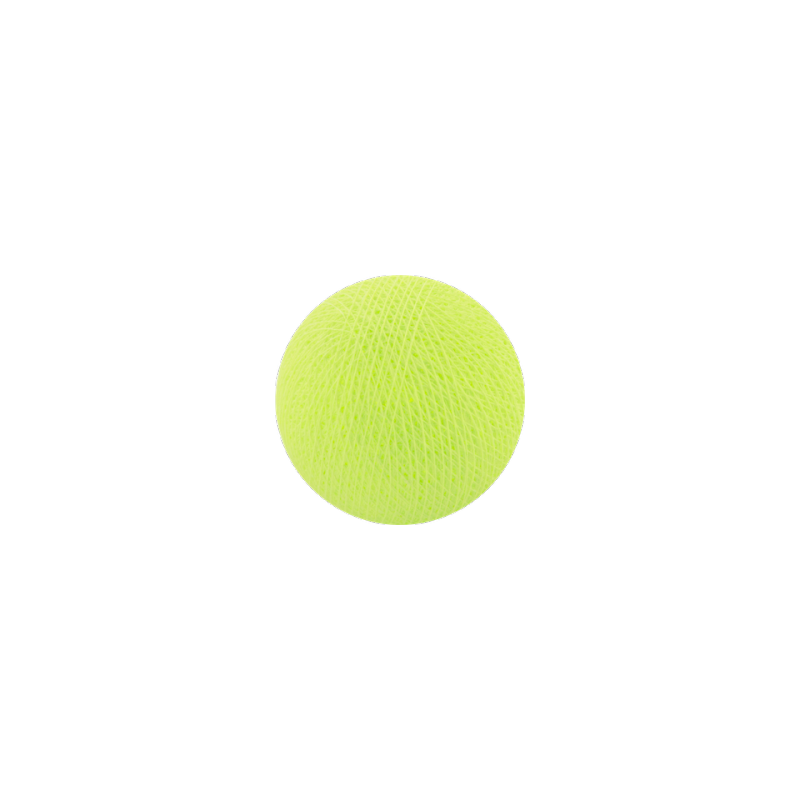 Šviečiančios girliandos medvilninis ŠVIESIAI ŽALIAS burbulas COTTON FAIRY LIGHTS 0036