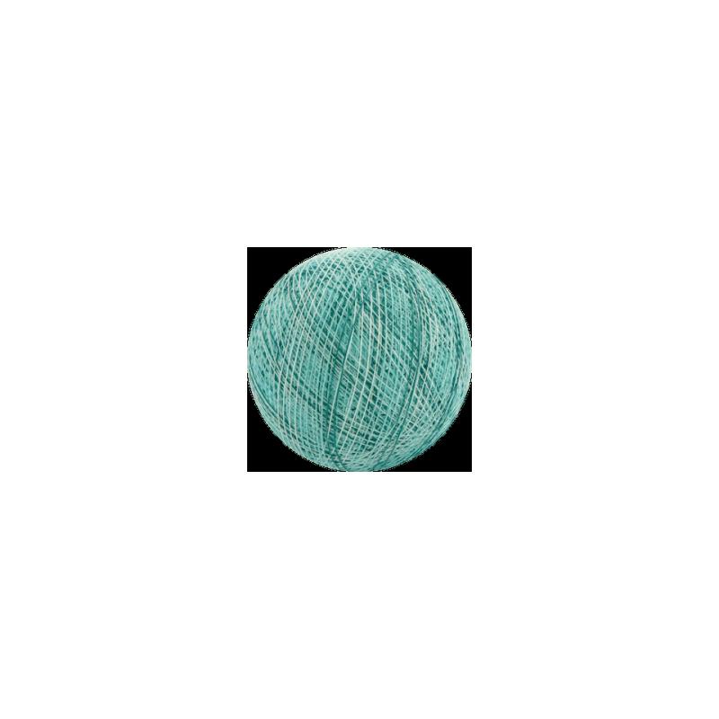 Šviečiančios girliandos medvilninis MIX MĖLYNAS burbulas COTTON FAIRY LIGHTS 0042
