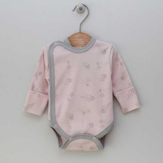 """Medvilninis smėlinukas kūdikiui su pirštinėmis """"Meidė"""" Rožinis VILAURITA 439"""