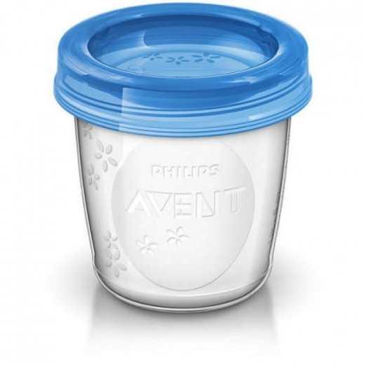 Indeliai VIA su dangteliu motinos pienui ir maistui laikyti AVENT 10 vnt.