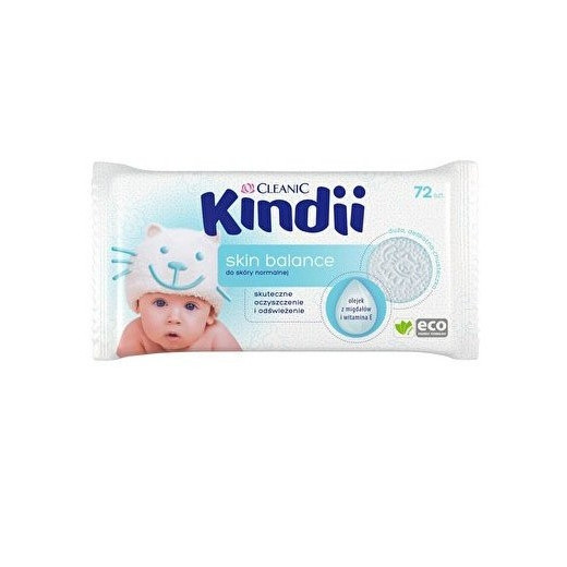 Drėgnos  kūdikių servetėlės CLEANIC Skin Balance 72vnt.