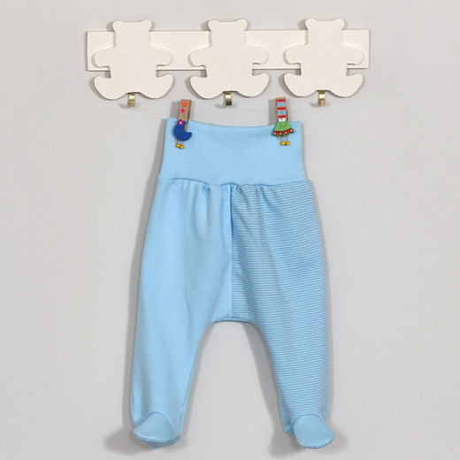 """Medvilninės kelnytės kūdikiui """"ROKI"""" mėlynos VILAURITA 719"""