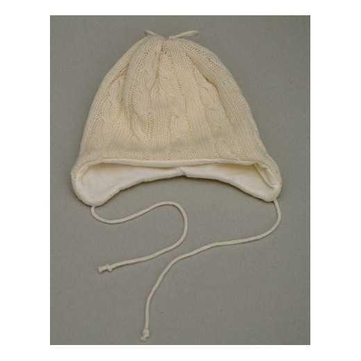 Kepurė iš vilnos VILAURITA 182 kreminė 40cm