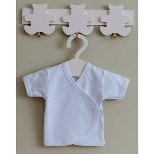 Medvilninis siaustinukas kūdikiui 62 cm baltas VILAURITA 107