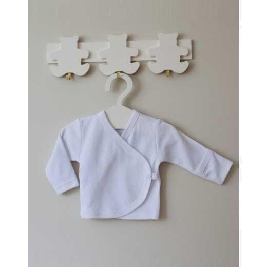 Medvilninis siaustinukas kūdikiui 62 cm baltas VILAURITA 106