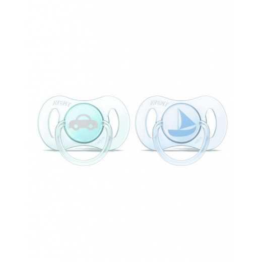 """Ortodontiniai čiulptukai """"MINI"""" 0-2m 2vnt  mėlynas+žalias Avent SCF151/01"""