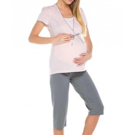 Pižama nėščiosioms-maitinančioms Italian Fashion FELICITA rožinė