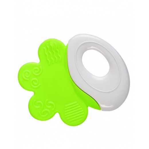 Kramtukas- barškutis 3+ mėn. žalias-baltas BabyOno 1383