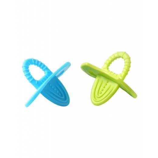 Elastingas kramtukas mėlynas-žalias nuo 3+ mėn. BabyOno 1009