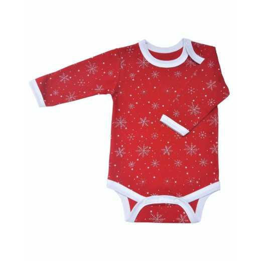 AKC Medvilninis smėlinukas kūdikiui Kalėdinis raudonas 74CM VILAURITA 430