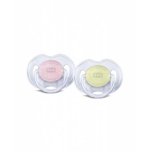 Čiulptukai silikoniniai gelsvas/rožinis 0-6m AVENT 170/18