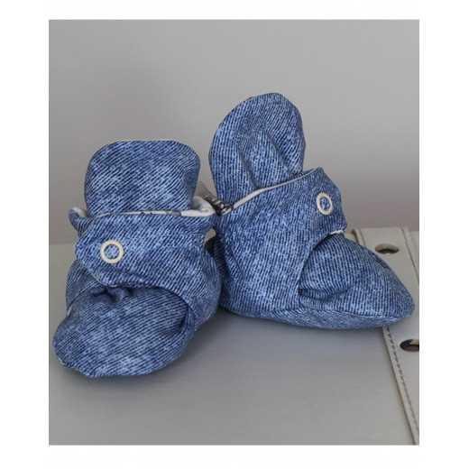 """Medvilniniai batukai """"Džiūlė"""" 10cm mėlyni-kreminiai Vilaurita 674"""