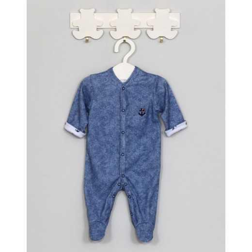 """Medvilninis kombinezonas kūdikiui """"Jūris"""" mėlynas Vilaurita 609"""