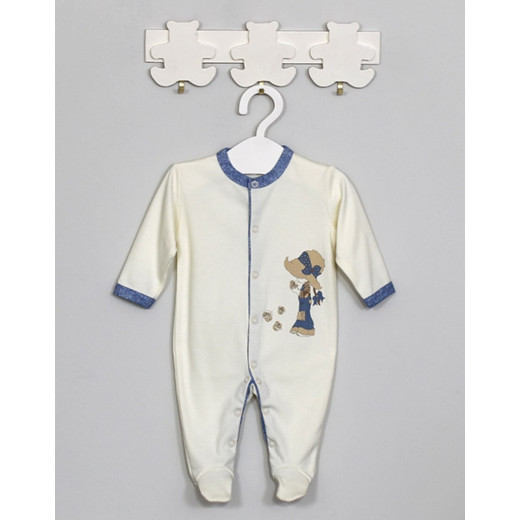 """Medvilninis kombinezonas kūdikiui """"Džiulė"""" kreminis Vilaurita 610"""