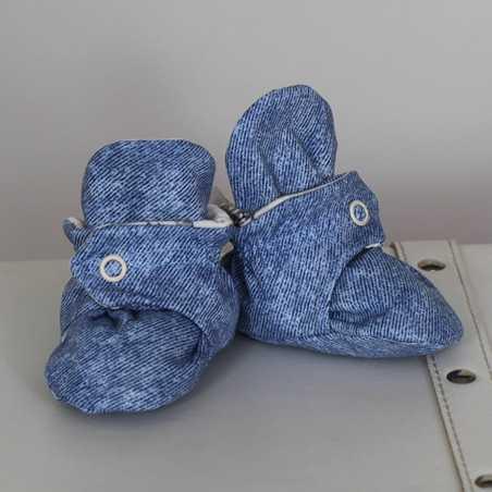 """Medvilniniai batukai """"Džiūlė"""" 12cm mėlyni-kreminiai Vilaurita 674"""