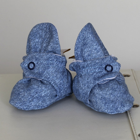 "Medvlininiai batukai ""Jūris"" 12cm mėlyni-balti Vilaurita 674"