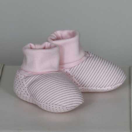 """Medvilniniai batukai """"Lilė"""" 10cm rožiniai su aplikacija Vilaurita 302B"""