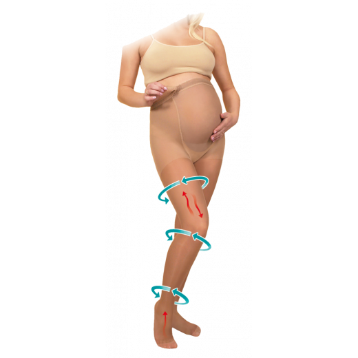 Kompresinės pėdkelnės nėščiosioms 18-21 mmHg TONUS ELAST 405-1K