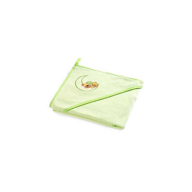 """Rankšluostis su gobtuvu kūdikiui """"Teddy Bear"""" 100x100 žalias Sensillo"""