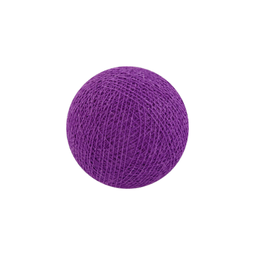 Šviečiančios girliandos medvilninis PURPURINIS burbulas COTTON FAIRY LIGHTS 0030