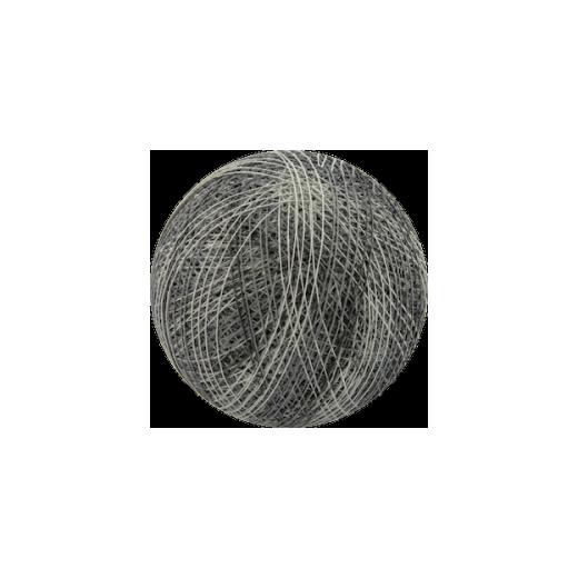 Šviečiančios girliandos medvilninis MIX PILKAS burbulas COTTON FAIRY LIGHTS 0039