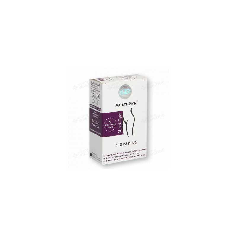 MULTI-GYN® priešgrybelinis makšties gelis FLORAPLUS, 5 vnt., 5 ml